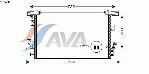 Радиатор кондиционера AVA QUALITY COOLING MT5210