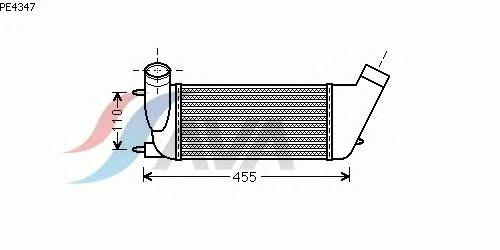 Интеркулер AVA QUALITY COOLING PE4347
