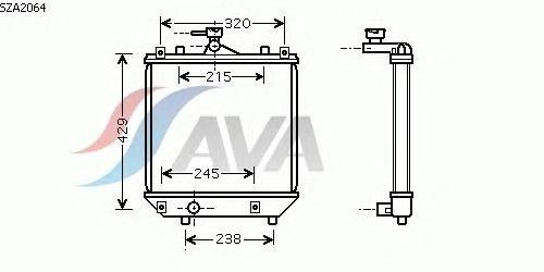 Радиатор, охлаждение двигателя AVA QUALITY COOLING SZA2064