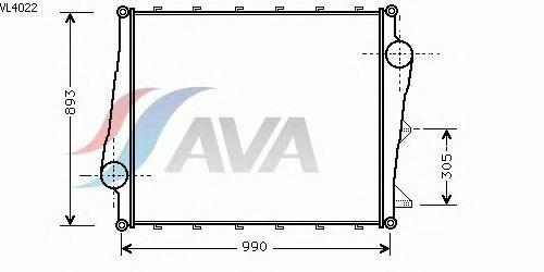 Интеркулер AVA QUALITY COOLING VL4022