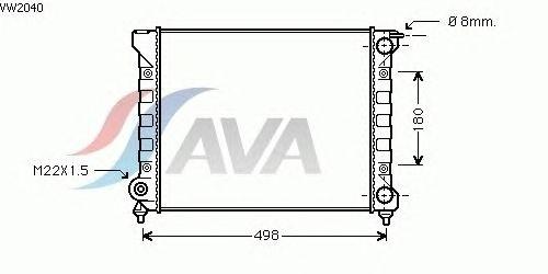 Радиатор, охлаждение двигателя AVA QUALITY COOLING VW2040
