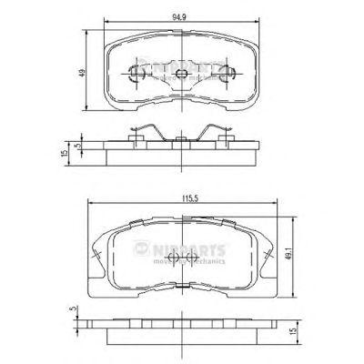 Тормозные колодки NIPPARTS J3606019