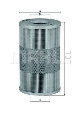 Масляный фильтр MAHLE ORIGINAL OX 44D