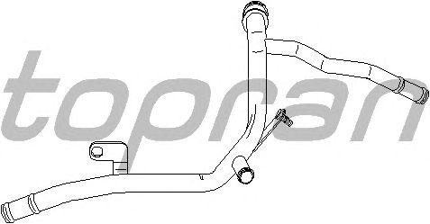 Патрубок системы охлаждения TOPRAN 113 681