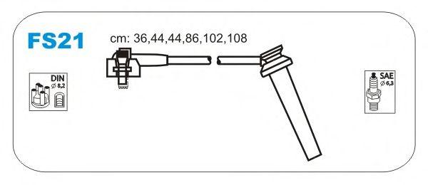 Комплект высоковольтных проводов JANMOR FS21