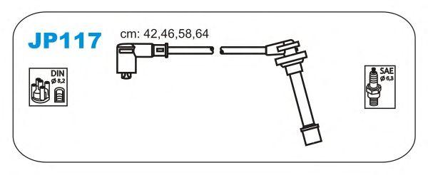 Комплект высоковольтных проводов JANMOR JP117
