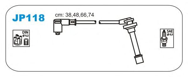 Комплект высоковольтных проводов JANMOR JP118