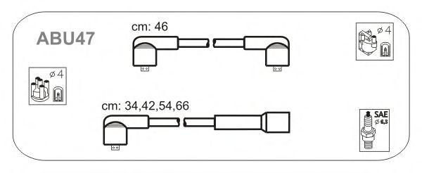 Комплект высоковольтных проводов JANMOR ABU47