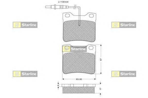 Тормозные колодки STARLINE BD S168