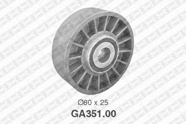 Натяжной ролик поликлинового ремня SNR GA351.00