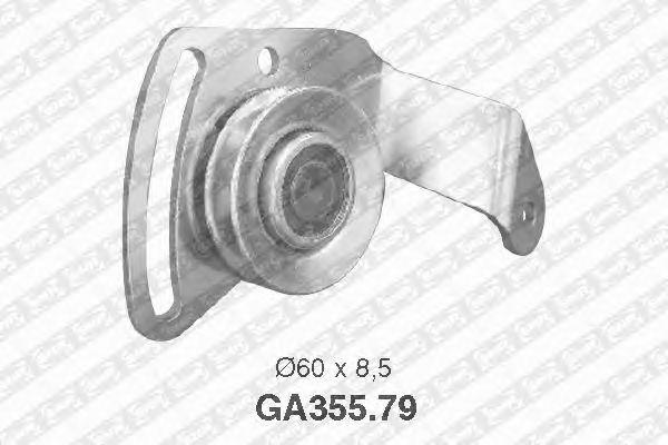 Натяжной ролик поликлинового ремня SNR GA355.79
