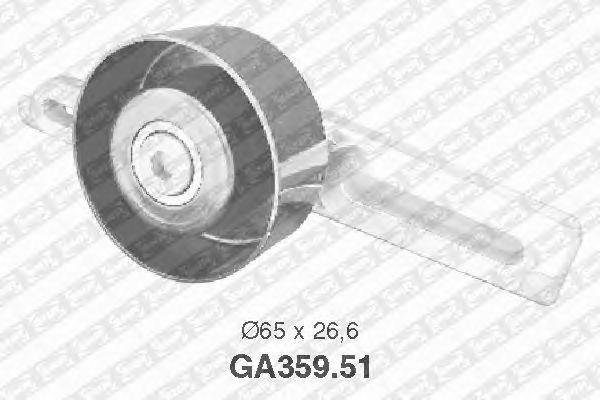 Натяжной ролик поликлинового ремня SNR GA359.51