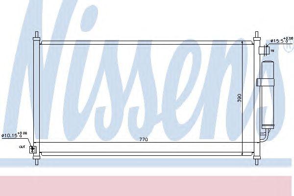 Радиатор кондиционера NISSENS 940237