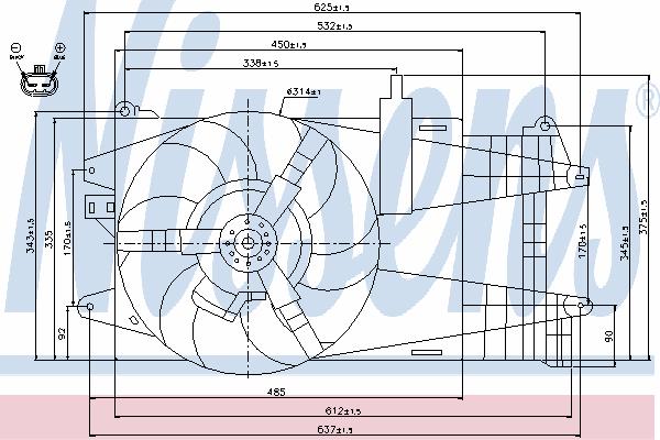 Вентилятор охлаждения NISSENS 85163