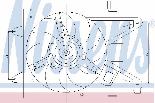 Вентилятор охлаждения NISSENS 85166