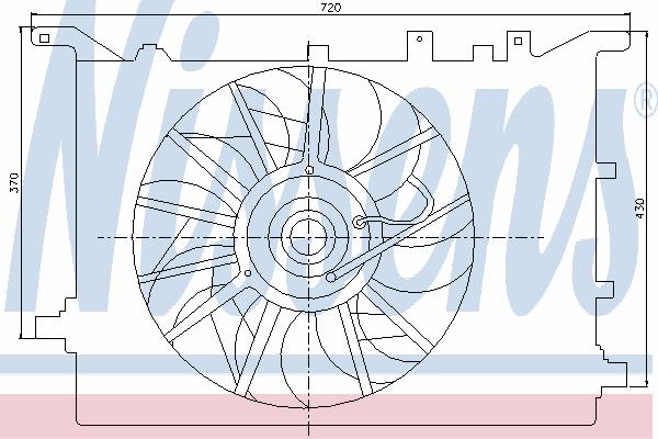 Вентилятор охлаждения NISSENS 85405