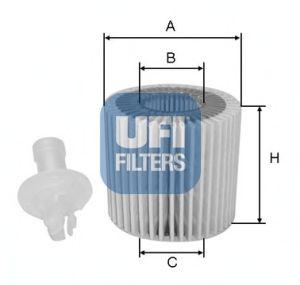Масляный фильтр UFI 25.116.00