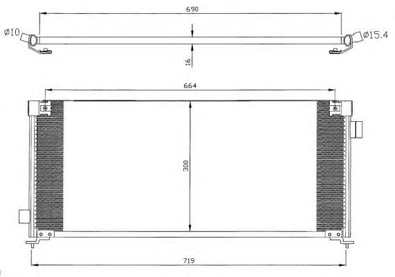 Радиатор кондиционера NRF 35352