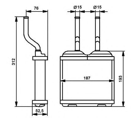 Радиатор отопителя NRF 52103