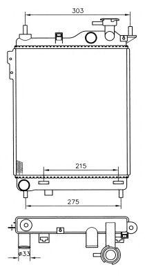 Радиатор, охлаждение двигателя NRF 53359