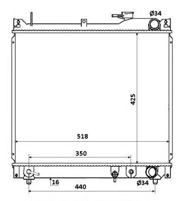 Радиатор, охлаждение двигателя NRF 53914