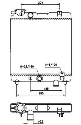 Радиатор, охлаждение двигателя NRF 58659