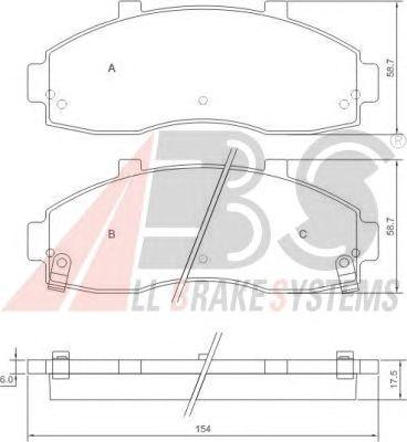 Тормозные колодки A.B.S. 37044