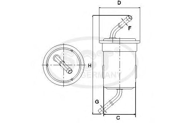 Топливный фильтр SCT Germany ST 6113