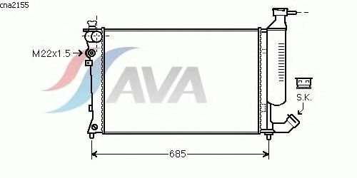 Радиатор, охлаждение двигателя AVA QUALITY COOLING CNA2155