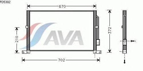 Радиатор кондиционера AVA QUALITY COOLING FD5302
