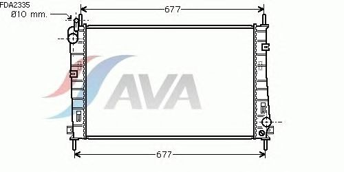 Радиатор, охлаждение двигателя AVA QUALITY COOLING FDA2335