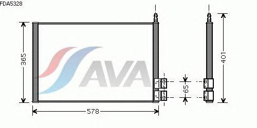 Радиатор кондиционера AVA QUALITY COOLING FDA5328