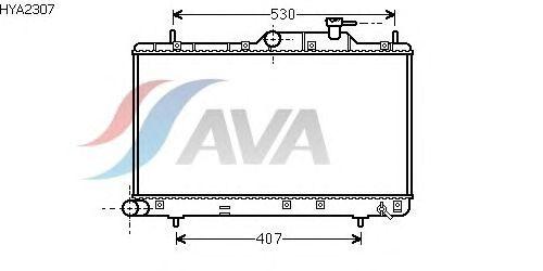 Радиатор, охлаждение двигателя AVA QUALITY COOLING HYA2307