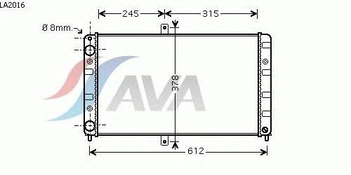 Радиатор, охлаждение двигателя AVA QUALITY COOLING LA2016