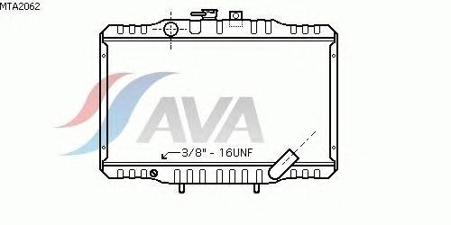 Радиатор, охлаждение двигателя AVA QUALITY COOLING MTA2062