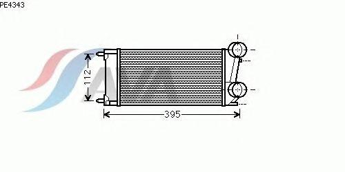 Интеркулер AVA QUALITY COOLING PE4343