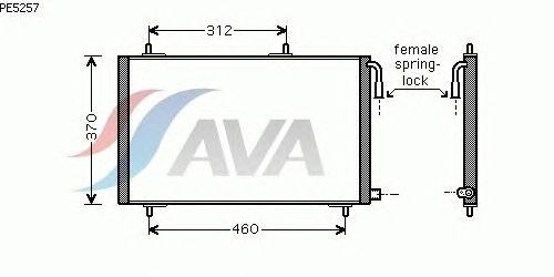 Радиатор кондиционера AVA QUALITY COOLING PE5257