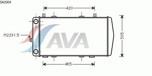 Радиатор, охлаждение двигателя AVA QUALITY COOLING SA2004