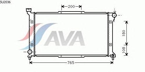 Радиатор, охлаждение двигателя AVA QUALITY COOLING SU2036
