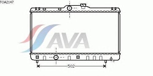 Радиатор, охлаждение двигателя AVA QUALITY COOLING TOA2147