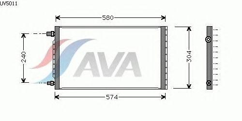Радиатор кондиционера AVA QUALITY COOLING UV5011