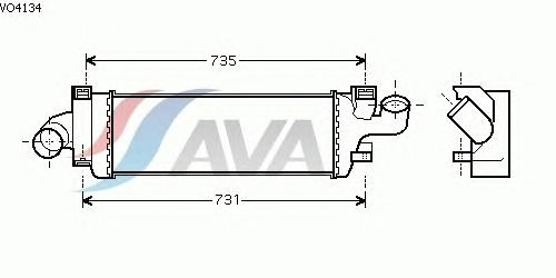 Интеркулер AVA QUALITY COOLING VO4134