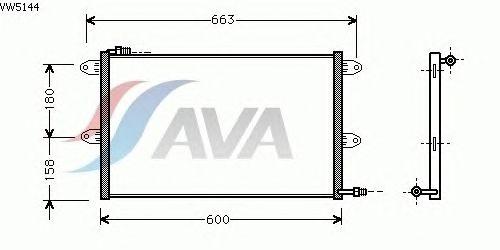 Радиатор кондиционера AVA QUALITY COOLING VW5144
