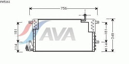 Радиатор кондиционера AVA QUALITY COOLING VW5161