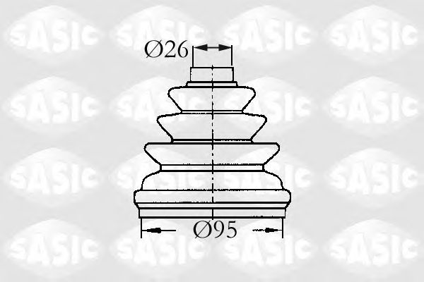 Комплект пыльника ШРУСа SASIC 2933953