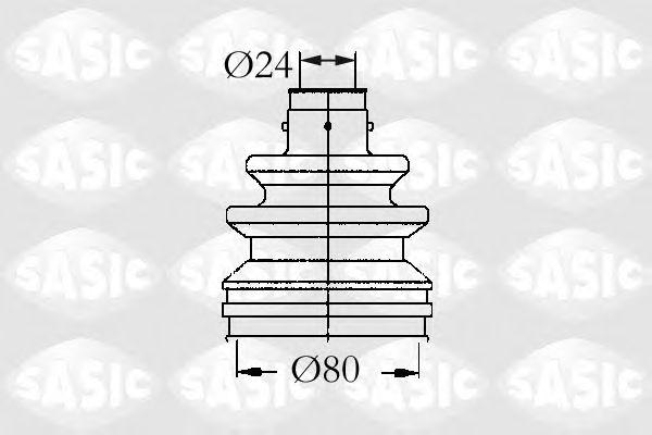 Комплект пыльника ШРУСа SASIC 4003448