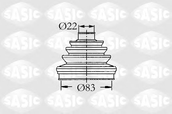 Комплект пыльника ШРУСа SASIC 4003437