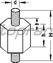 Кронштейн корпуса воздушного фильтра TOPRAN 400 434