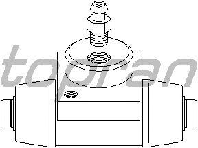 Колесный тормозной цилиндр TOPRAN 205 510