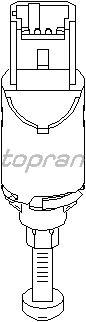 Выключатель фонаря сигнала торможения TOPRAN 721 900